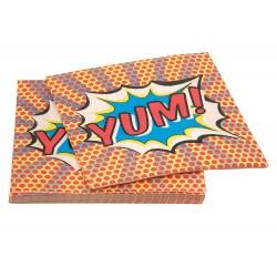 Superhero servietter til den lille superhelts fødselsdag fra Gingerray