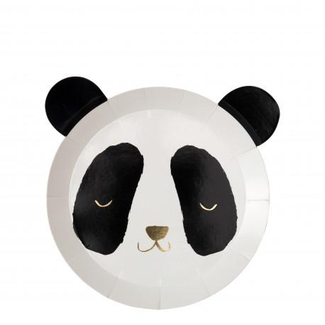 Panda Tallerkner fra Meri Meri
