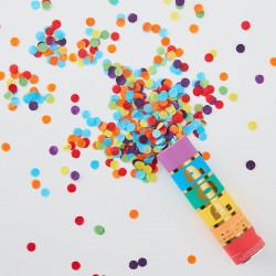 Regnbue konfetti kanon