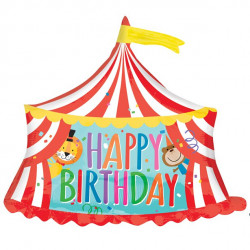 Cirkustelt Happy Birthday Ballon
