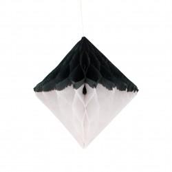Sort og Hvid Diamant Honeycomb 27 cm