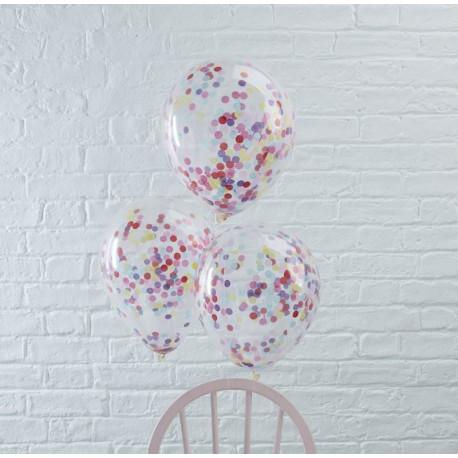 Mixed Farvede Konfetti balloner fra GingerRay