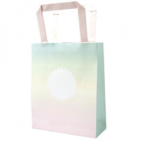 Goodie bags i ombre pasteller