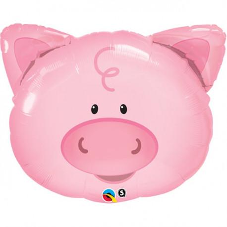 Den sødeste gris ballon på hele bondegården