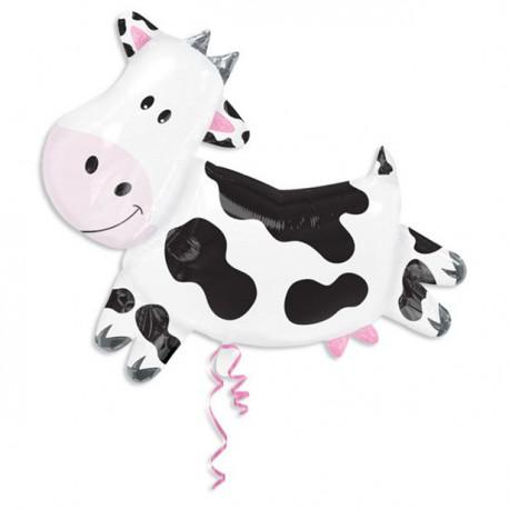 Kæmpe Ko folie ballon til bondegårdsfødselsdag