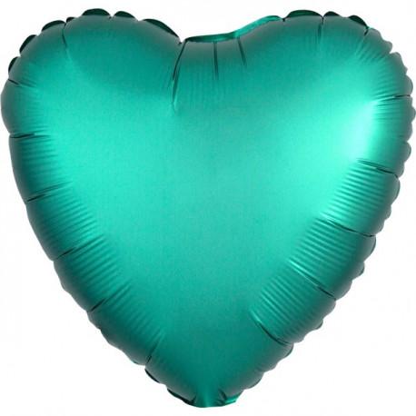 Grøn Chrome Hjerte Folie Ballon