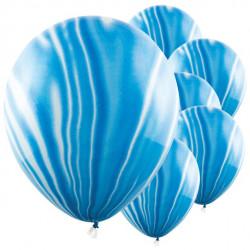 Blå marmor balloner