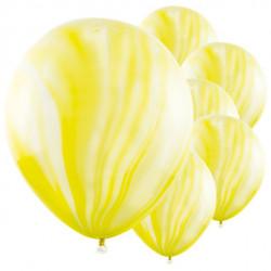 Gule marmor balloner