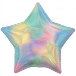 Regnbue pastel folie stjerne ballon