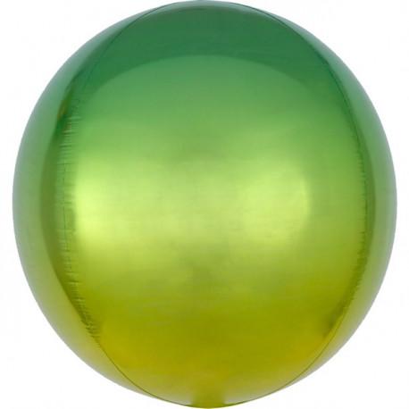 Ombre Gul og Grøn Orbz ballon