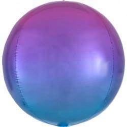 Ombre rød og Blå Orbz ballon