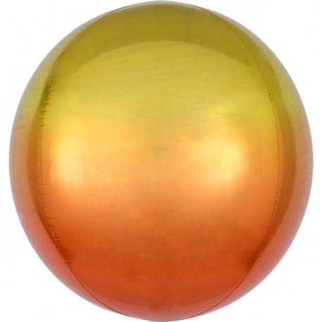 Ombre gul og orange orbz ballon