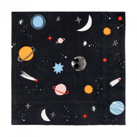 Space Servietter fra Engelske Meri Meri