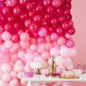 Lyserød og pink ballonvæg i flotte farver fra GingerRay