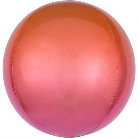 Ombre Orange og Rød Orbz ballon