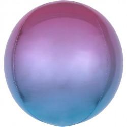 Ombre Lilla og Blå Orbz ballon