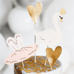 Lovely Swan Caketopper