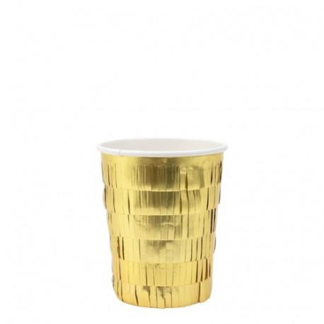 Guld papkrus med frynser fra Meri Meri