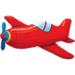 Rød flyver folie ballon