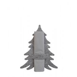 Juletræ servietringe i grå filt