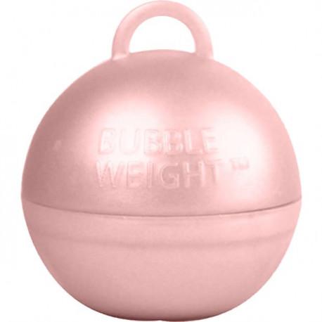 Rosegold kugle vægt til balloner med helium