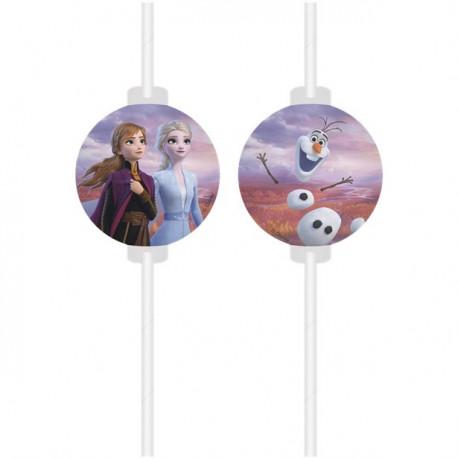 Frost sugerør med Olaf, Anna og Elsa