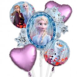Frost folie ballon buket med Elsa og Anna
