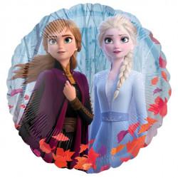 Smuk rund folie ballon med tema fra Frozen 2
