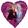 Folie hjerte ballon med Anna og Elsa fra Frozen 2