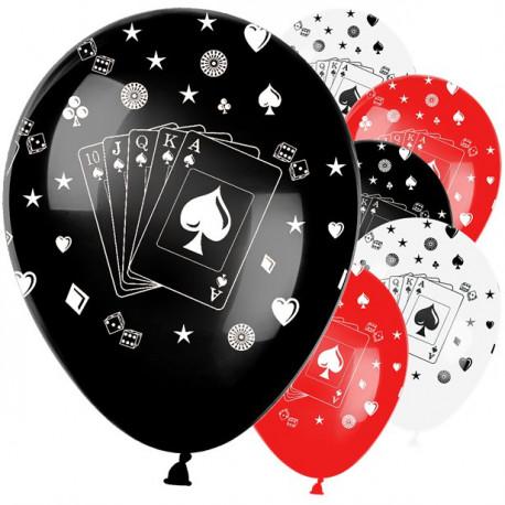 Kasino spillekort balloner