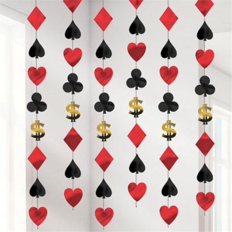 Casino væg og loft dekoration