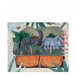 Dinosaur Riget Cupcake kit fra Meri Meri