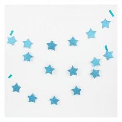 Lyseblå stjerne glimmer guirlande fra My Little Day