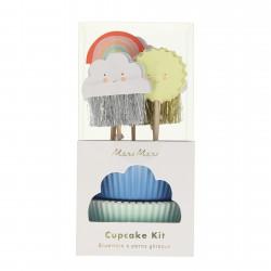Happy Weather Cupcake Sæt fra Meri Meri