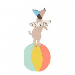 Cirkus Hund Servietter fra Meri Meri