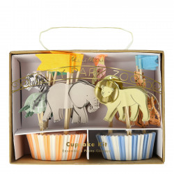 Safari dyr cupcake sæt fra Meri Meri