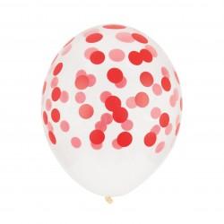 Balloner med røde konfetti prikker fra My Little Day