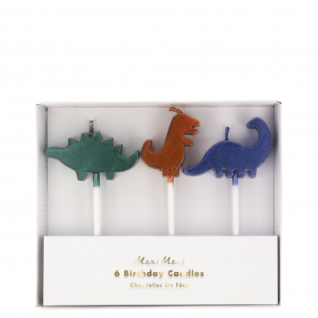 1 Pakke Dinosaur kagelys fra Meri Meri