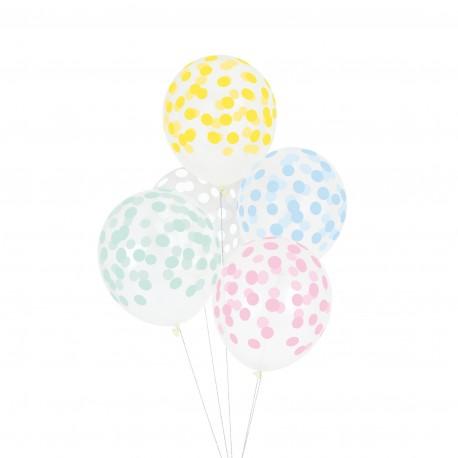 Balloner med pastel prikker