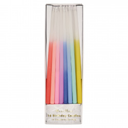 Fødselsdagslys i alle regnbuens farver fra Meri Meri