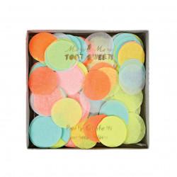 Multifarvet neon konfetti fra Meri Meri