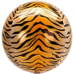 Tiger Foile Orbz Ballon