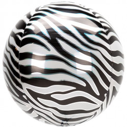 Zebra Foile Orbz Ballon