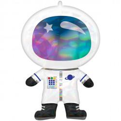 Iriserende Astronaut Folie figur ballon