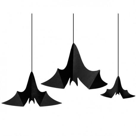 Sorte Bat flagermus loftdekoration