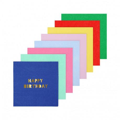 Happy Birthday kaffeservietter fra Meri Meri
