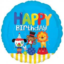 Cirkus Happy Birthday folie ballon