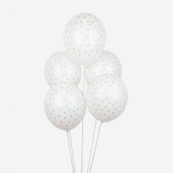 Balloner med guld stjerner fra My Little Day