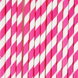25 Pinkstribede papirsugerør fra franske My Little Day