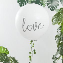 Kæmpe hvid Love Ballon fra GingerRay
